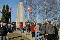 Pietní akt u památníku partyzánské brigády Mistra Jana Husa