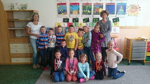 Na fotografii jsou žáci ZŠ Štáflova Havlíčkův Brod, třída 1.B paní učitelky Aleny Doležalové.