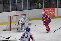Z hokejového utkání HC Rebel - HC Stadion Litoměřice.
