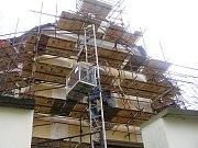 Náročným stavebním zásahem prochází kostel Narození svatého Jana Křtitele v Přibyslavi.