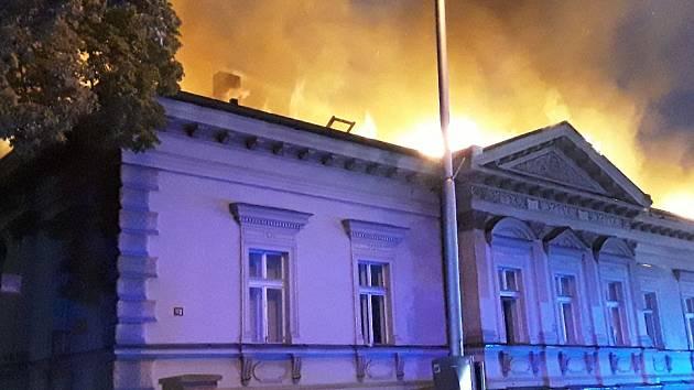 Požár v Havlíčkově Brodě.