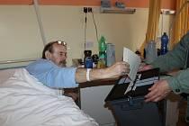 Dát hlas svému kandidátovi mohli i pacienti havlíčkobrodské nemocnice.