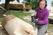 Šestnáct sochařů ze všech koutů republiky se sjelo do amfiteátru v Lipnici nad Sázavou na druhý ročník Dřevěné Lipnice.
