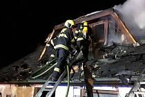 Požár rekreačního domu v Kraborovicích.