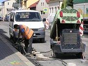 Oprava Humpolecké ulice.