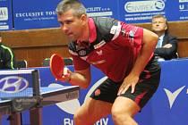 Překvapením byly výkony zejména v prvním zápase Jana Hrnčiříka (na snímku), který nahradil Petra Korbela. Dokázal favorizované hráče hodně potrápit.