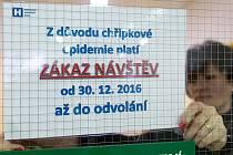 Tato informace již neplatí, některé nemocnice na Havlíčkobrodsku zrušily zákaz návštěv. Ilustrační foto.