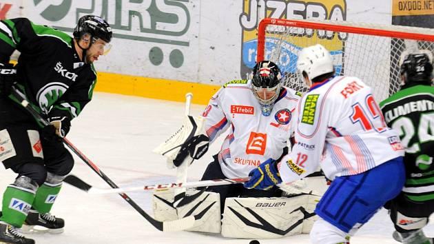 Potřebují vyhrát. Pokud by třebíčští hokejisté zopakovali výsledek z předchozího zápasu v Mladé Boleslavi, ve kterém vyhráli 5:4 po nájezdech, zajistili by si páté místo.