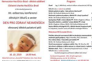 Odborná konference dětských lékařů a sester bude letos věnována dětské paliativní péči.