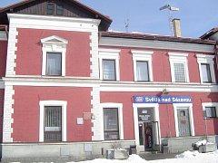Železniční stanice Světlá nad Sázavou.