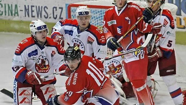Hokej HB - Olomouc. Ilustrační foto