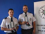 Ocenění policisté - Jiří Medek a Vít Stehlík.