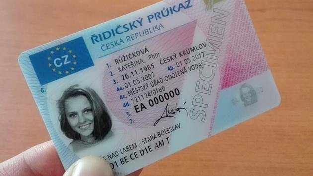 Řidičský průkaz.