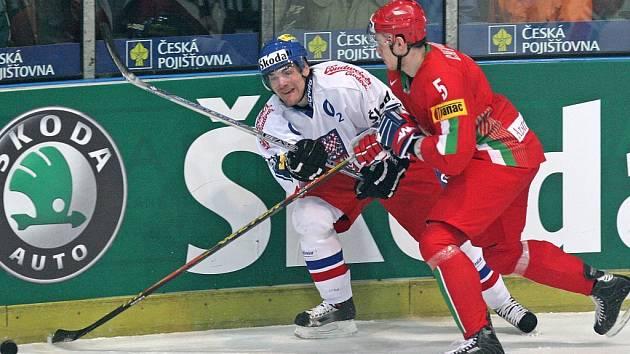 Česká reprezentace v havlíčkobrodské Kotlině porazila ve druhém přípravném zápase Bělorusko 7:1.