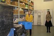Cílem Potravinové banky Vysočina v Ledči  je zmírnit chudobu a omezit plýtvání potravinami.