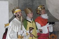 Tříkrálový koncert a tříkrálová hra. Takový byl sobotní podvečer na lipnickém hradě