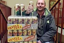 Bohumil Šidlák vyhrál 100 kusů jedenáctistupňového piva Gambrinus Excelent.