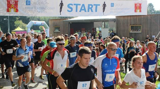U Sázavy se běžel premiérový Havlíčkobrodský půlmaraton.