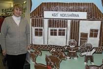 Perníkářka. Perníčky Marie Henzlové  z Dobré jsou vyhlášené na celém Přibyslavsku. Letos překvapila návštěvníky podzimní výstavy celou kozí farmou.