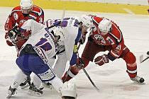Z hokejového utkání HC Rebel - HC Vrchlabí.