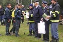 Mladým hasičům z Dobré u Přibyslavi s podařilo prolomit smůlu z posledních dnů, na závodě získali stříbro.