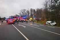 Vážná dopravní nehoda u Golčova Jeníkova.