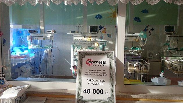 CoraHB byla k nemocnici štědrá