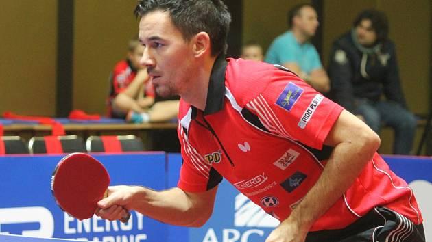 Po dvou boedch získali v posledním zápase základní části extraligy proti Slavii Hradec Králové brodští hráči Tomáš Tregler (na snímku) a Pavel Širuček.
