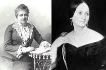 Theodora Němcová (vlevo) nezdědila po své matce Boženě Němcové krásu ani talent. Reprofoto.