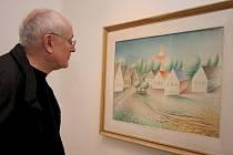 Mezi obrazy na největší a rekordně pojištěné výstavě díla Jana Zrzavého v Mirbachově paláci v Bratislavě v roce 2008 poutal pozornost také slavný obraz návsi v Krucemburku z roku 1959. Obraz vlastní Národní galerie v Praze.