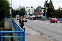 Most přes Sázavu v Havlíčkově Brodě.