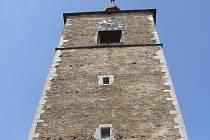 Gotická věž v Přibyslavi.