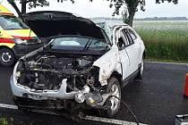 K nehodě došlo také u Přibyslavi na Brodsku.