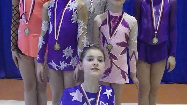 Moderní gymnastiky ŠSK při ZŠ Štáflova.