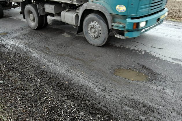 Stav silnice u Pohledu.