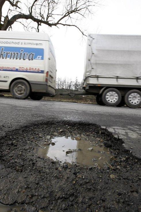 Stav silnice u Simtan.