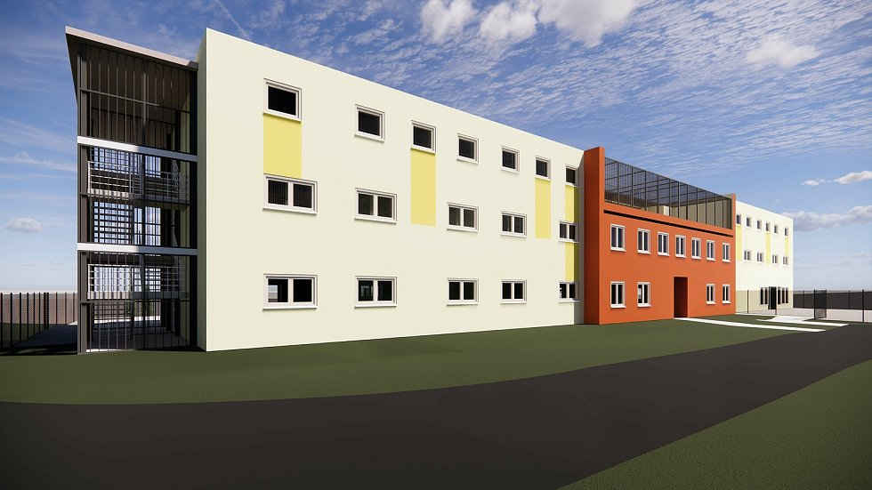 Vizualizace nové budovy ženské věznice ve Světlé.