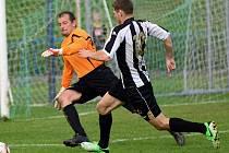 Střelnici. Tu si ve středečním zápase proti Pacovu otevřeli hráči brodského Slovanu, když se trefili hned sedmkrát.