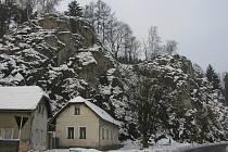 Šeptouchovské skály v Ledči nad Sázavou.