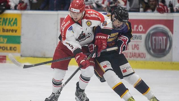 Hokejový zápas mezi LH Jiskra Humpolec a HC Lední Medvědi Pelhřimov.
