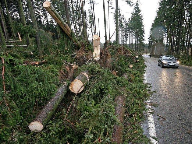 Nevyčíslitelné škody způsobil silný vítr v blízkosti lyžařského areálu Vysoká u Havlíčkova Brodu. Podle informací Deníku padla téměř polovina lesa
