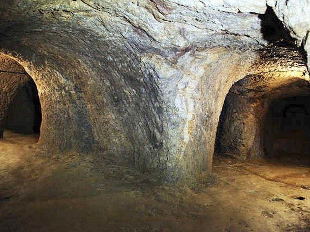 Středověké podzemní chodby ve Světlé nad Sázavou.