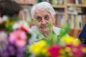 Oslava 100. narozenin Marie Peškové z Chotěboře.