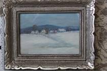 Kradené obrazy, které skončily u celníků z Havlíčkova Brodu. Foto: archiv Celního úřadu pro Kraj Vysočina