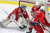 Hokejisté Třebíče se v sobotu představí v Havlíčkově Brodě. Rebelové (na snímku) jsou jejich první překážkou v náročné sérii, která odstartuje právě sobotním utkáním.
