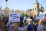 Čtvrtá demonstrace proti premiérovi Babišovi v Havlíčkově Brodě