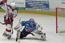 Z hokejového utkání Havlíčkův Brod - Beroun.