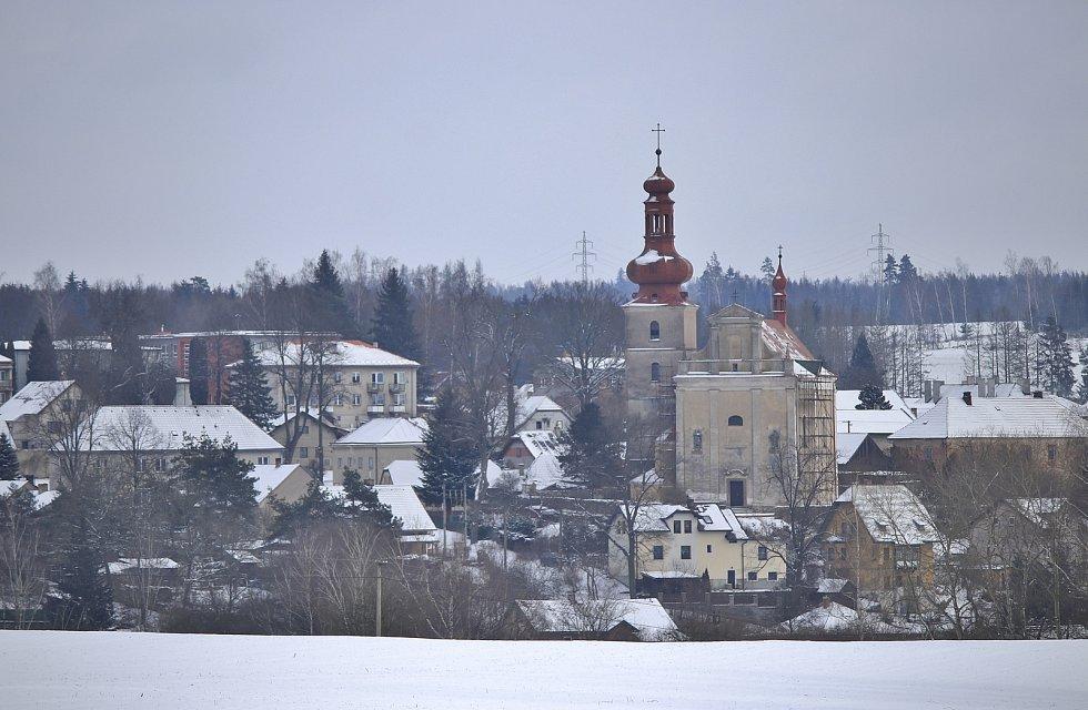 Kostel ve Šlapanově.