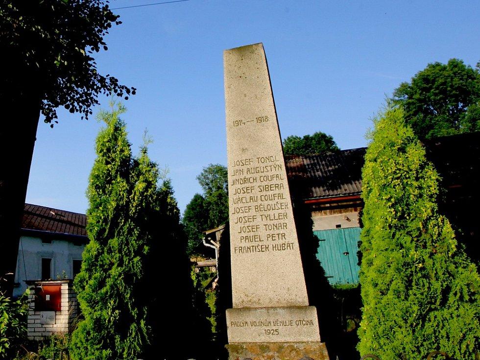 Pomník v Utíně.