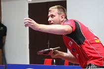Pevné nervy měl v rozhodujícím zápase brodský stolní tenista Pavel Širuček (na snímku), který rozhodl o výhře nad polským celkem Bogoria Grodzisk Mazewiecki 3:2.